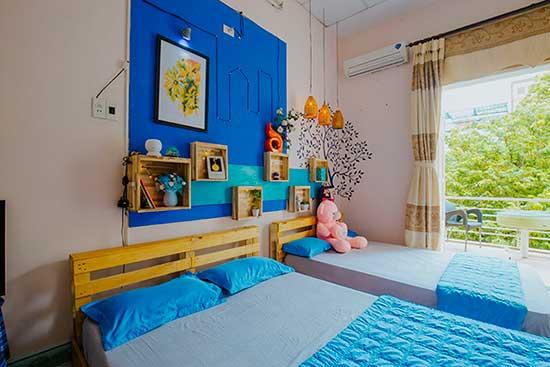 Phòng FAMILY có ban công, 2 giường cho 3-4 người